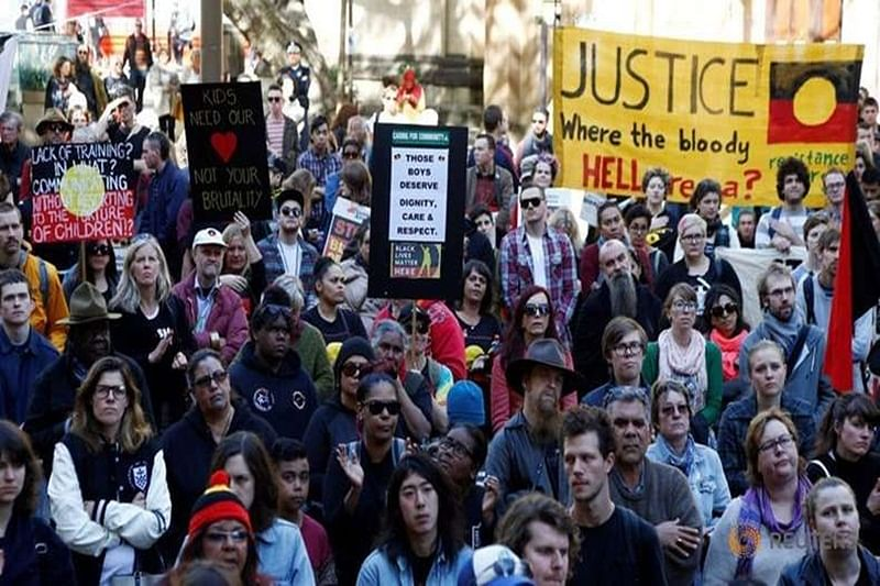 Hundreds rally in Australia over juvenile 'torture' footage