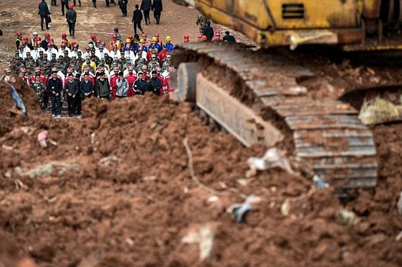 61 killed, 7 injured in China landslide