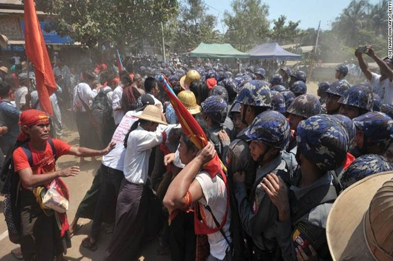 Myanmar protests snowball