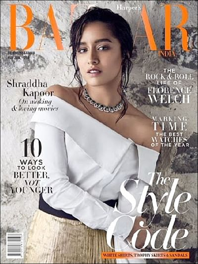 Check out Shraddha Kapoor on the cover of Harpers Bazaar