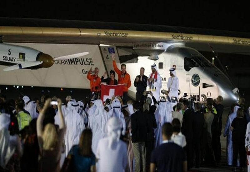 Solar plane completes historic round-the-world trip