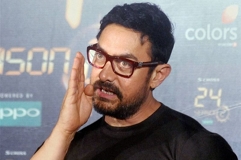 Mumbai: Bollywood superstar Aamir Khan at a press conference for the promotion of the second season of the Indian version of television show '24', directed by Abhinay Deo, in Mumbai on Wednesday. PTI Photo by Sunil Khandare.  (PTI6_9_2016_000091B) *** Local Caption ***