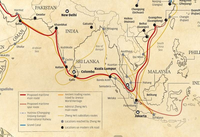 Modi using delaying tactics towards China's Maritime Silk Road plan, claims Chinese daily