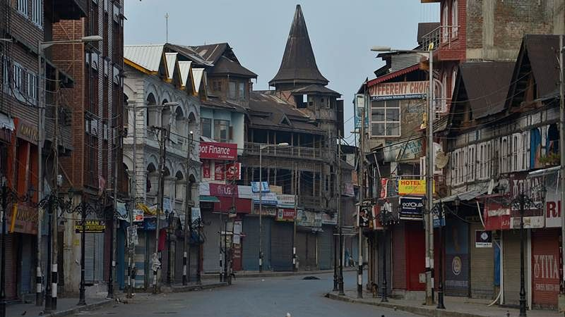 A view of a deserted street during a curfew in Srinagar on July 10, 2016 | Representational image