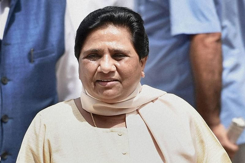 New Delhi: BSP supremo Mayawati arrives at Parliament house during the monsoon session in New Delhi on Thursday. PTI Photo by Vijay Verma (PTI7_21_2016_000062B)
