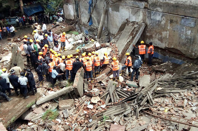 Bhiwandi building collapsed like a pack of cards