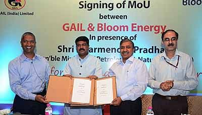 GAIL, Bloom Energy to provide India with clean energy