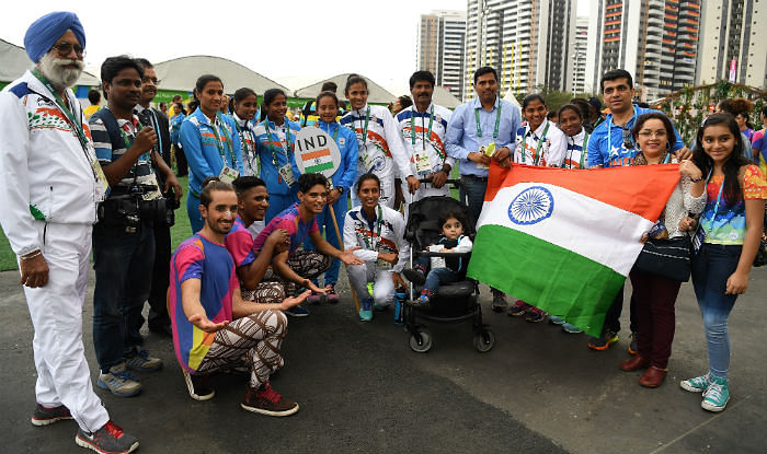 Indian tricolour raised at Rio Olympic Village