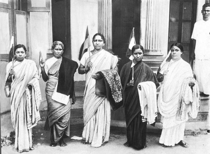 Tara Rani Srivastava (third from left). Image source: Pyjama People