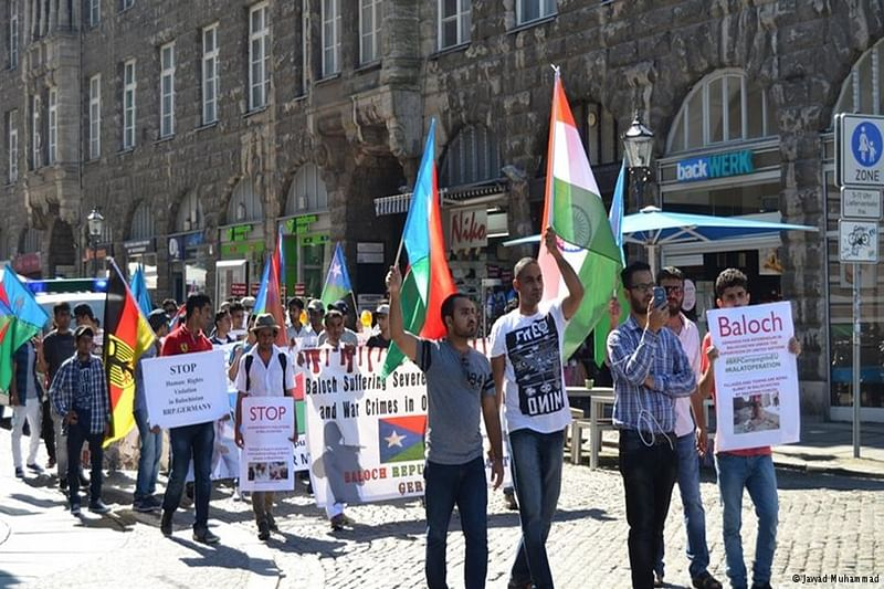 Baloch activists protest in Germany, thank Modi