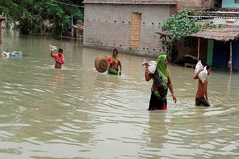 BJP, allies disrupt Bihar assembly over flood situation