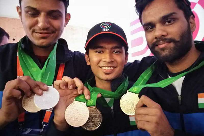 3 golds for India in Shooting