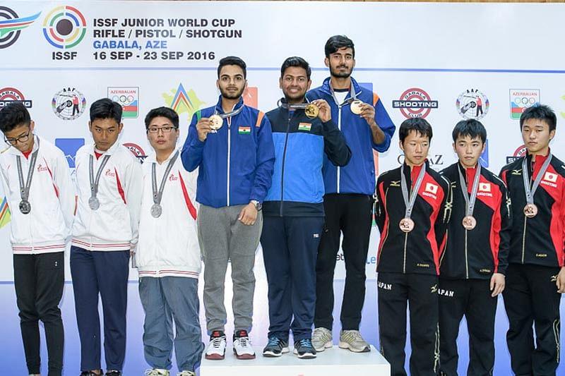 Rushiraj wins rapid fire pistol gold