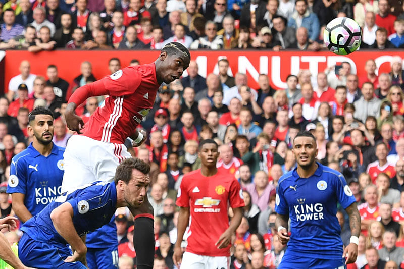 Manchester United  thrash Leicester