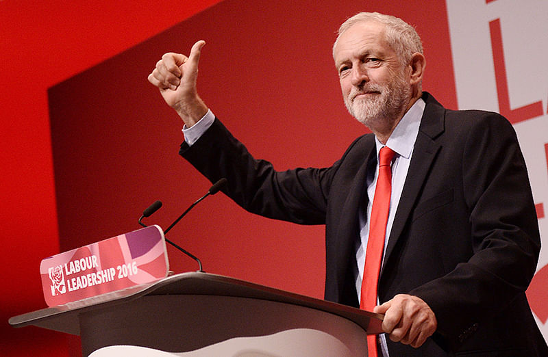 Corbyn re-elected Labour leader in UK