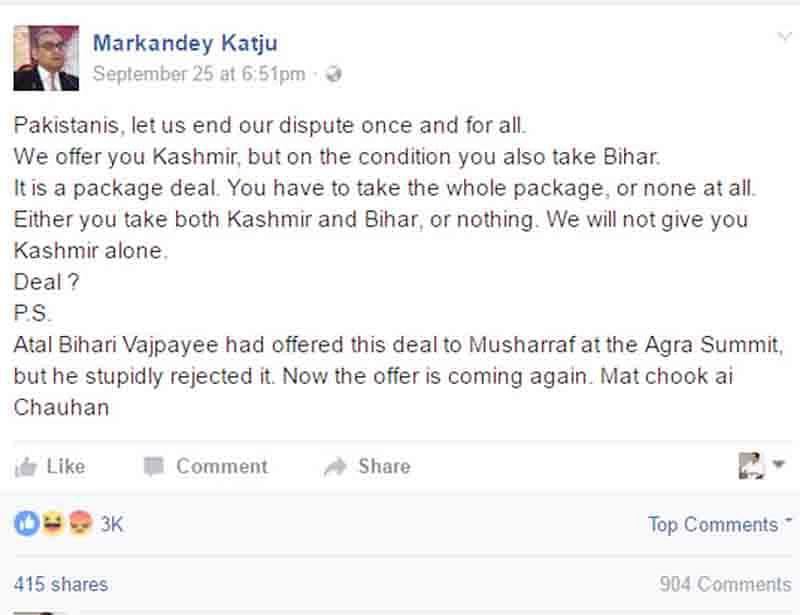 Katju should be jailed,  demand Bihar leaders