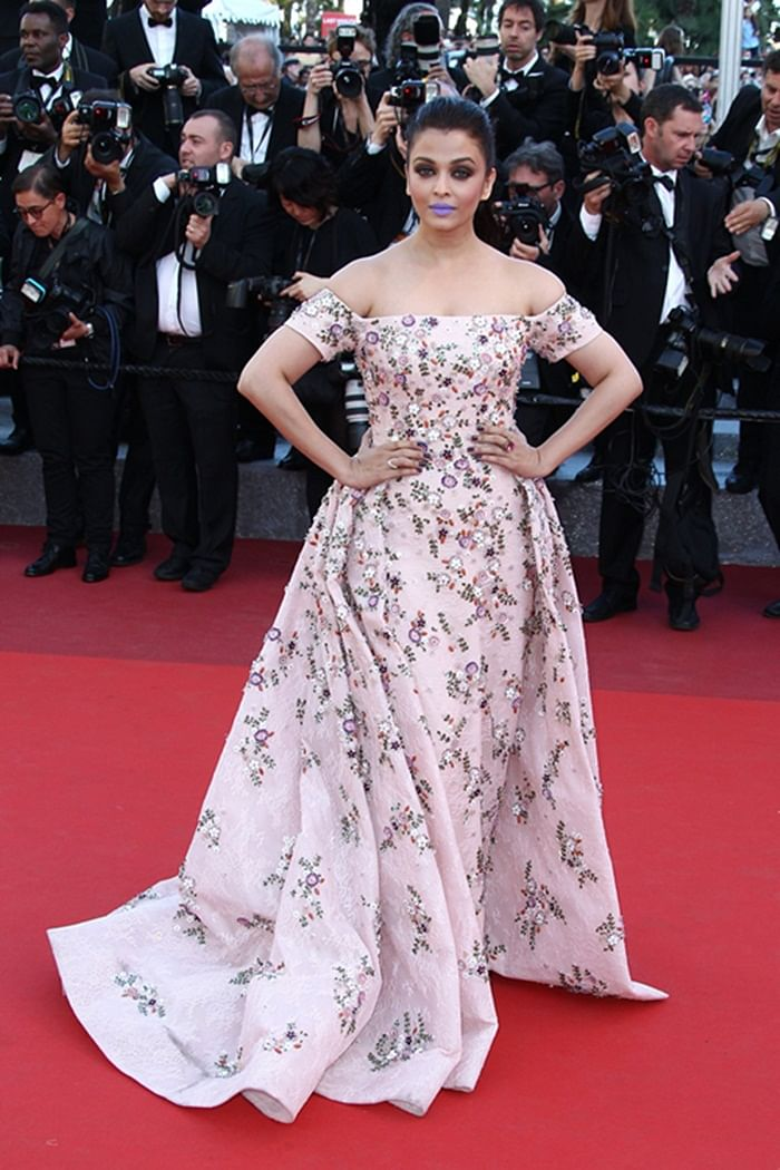 Aishwarya Rai Bachchan rocked in Rami Kadi's floral gown at Cannes 2016