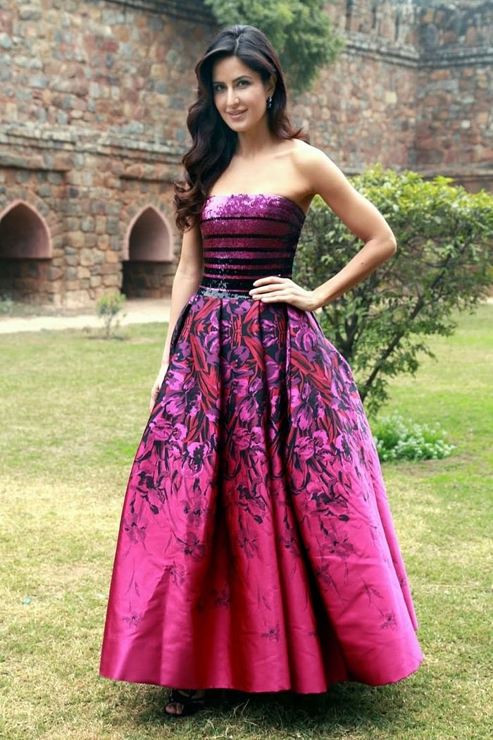 Katrina Kaif vowed in Georges Chakra's strapless gown during 'Fitoor' promotions