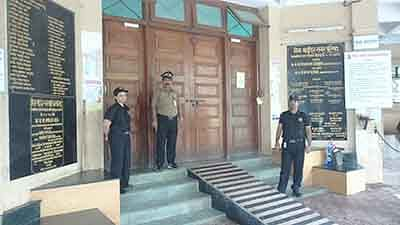 MBMC fortifies headquarters,registered thumb impression required