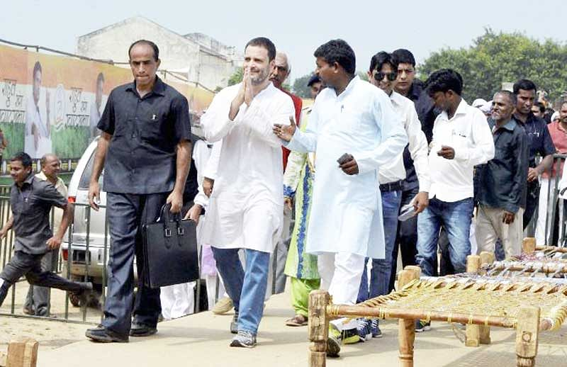 Government ignoring woes of farmers, charges Rahul