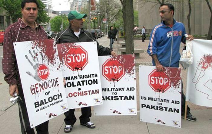 Balochis, Indians protest outside UN against Pakistan