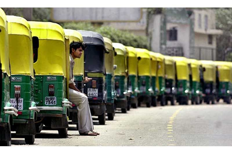 App-based cabs make a killing as autos stop plying