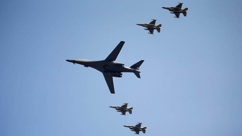 US flies bombers over South Korea again in show of force