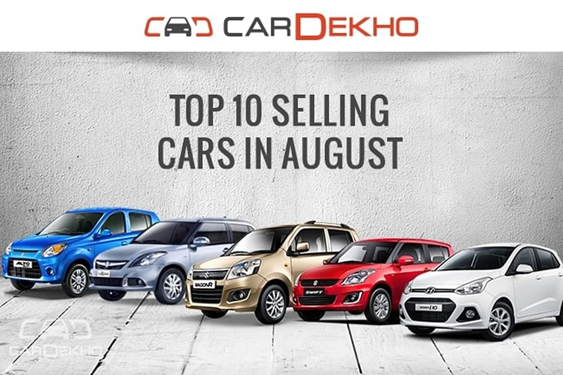 Top 10 selling cars: August 2016