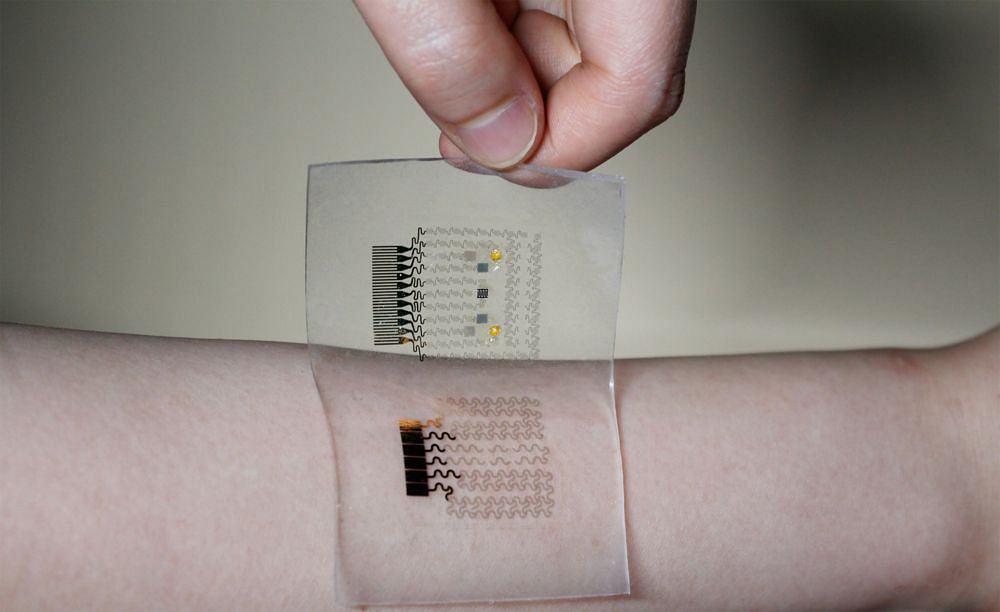 Sensor that gives health updates from user's sweat