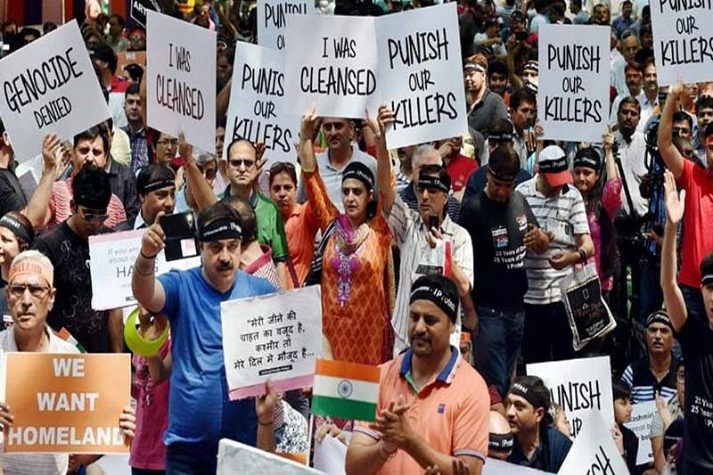 Kashmiri Pandits protest against govt for 'ignoring' them