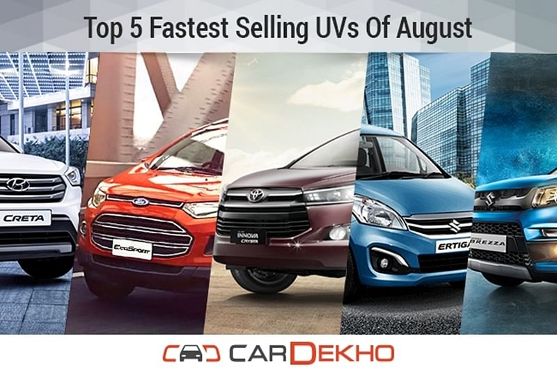 Top 5 Fastest Selling UVs Of August 2016