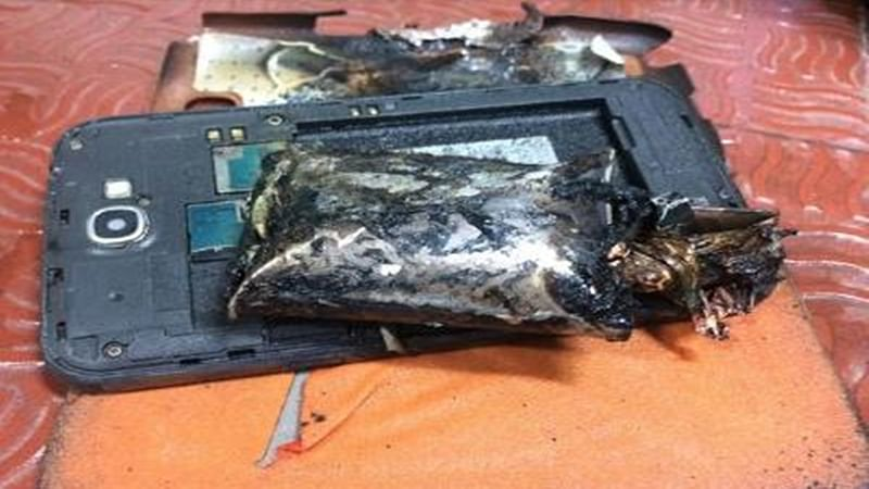 Samsung phone catches fire in aircraft; DGCA summons company