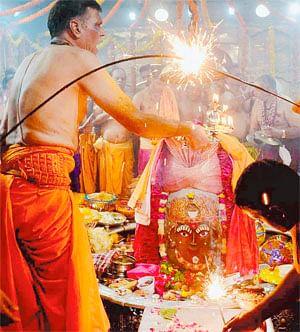 Mahakal bhasmarti marks auspicious beginning