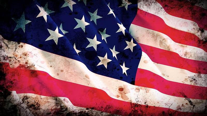 fine 3d image of america grunge  flag background