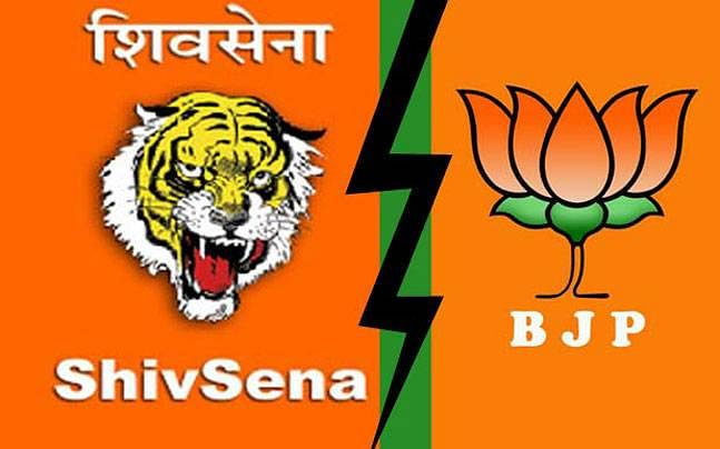 Thane: Shiv Sena, BJP men fight in public