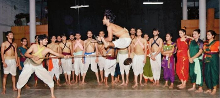 Bhopal: MPSD students display their felicity at Manipuri martial art