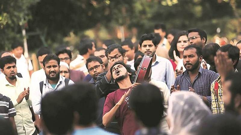 JNU marches for missing student Najeeb Ahmed