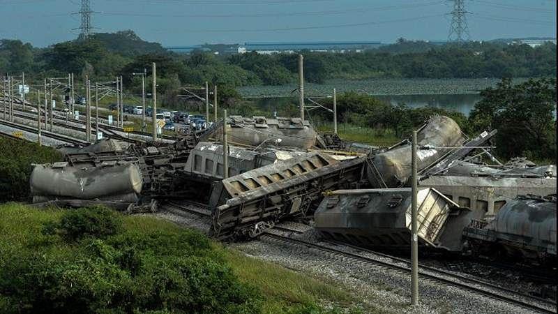 Malaysia cargo train derailment strands thousands