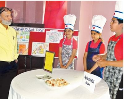 Indore: Choithram School students spread the healthy word