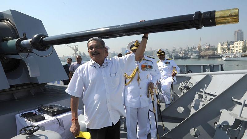 Manohar Parrikar commissions new warship 'INS Chennai'