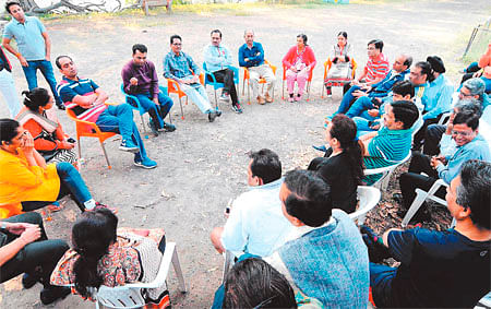 Collector, CMC exchange views with IMA doctors over a cup of tea