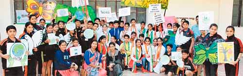 Help keeping our surrounding clean & green: School kids