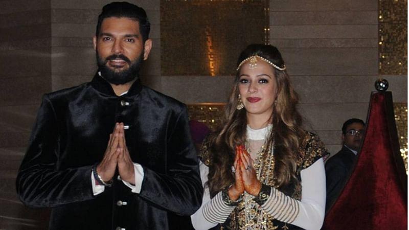 In pics: Yuvraj Singh and Hazel Keech pre-wedding bash