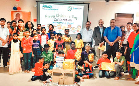 Bhopal: Amway celebrates Children's Day at Matrachaya