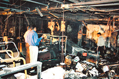 Valuables gutted in fire at IDA building in Indore