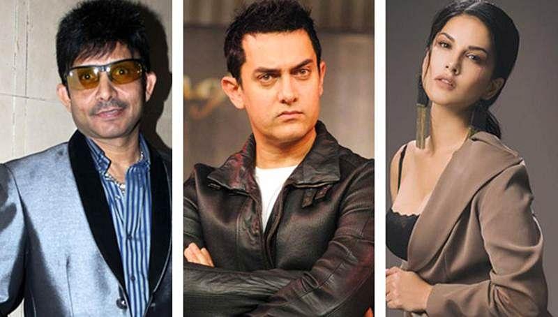 KRK calls Aamir Khan 'Besharam Insaan' for supporting Sunny Leone