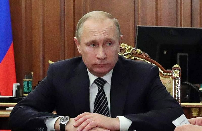 Putin says Russia not involved in hacking