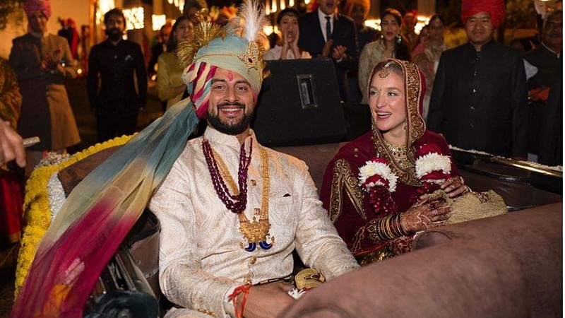 In Pictures: Actor Arunoday Singh marries Canadian girlfriend Lee Elton in Bhopal