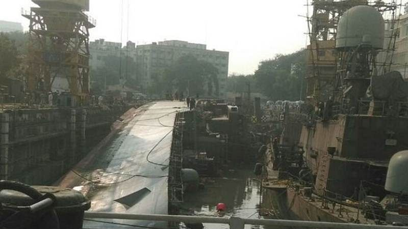Navy ship Betwa tips over in Mumbai, 2 killed, 15 injured