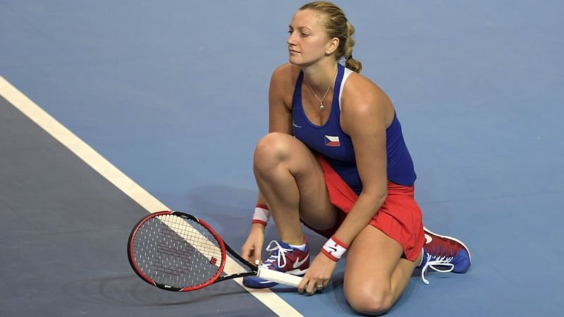 Petra Kvitova feels fortunate to be alive after attack by a knife-wielding intruder